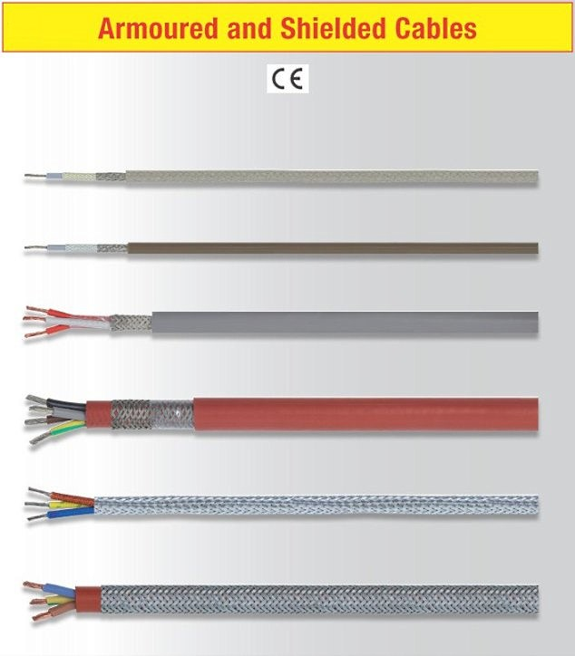Armoured and shielded cables